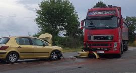 Wypadek na drodze Łomża - Śniadowo! Kierowca bez uprawnień trafił do szpitala [FOTO]