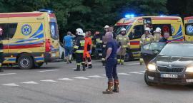 Trzy osoby ranne po wypadku na trasie Łomża – Kolno [FOTO]