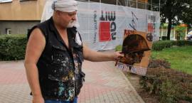 Łomża: Trwa realizacja patriotycznego muralu [FOTO]