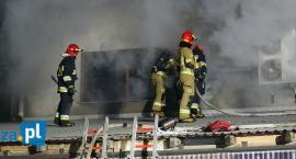 Łomża: Nocny pożar stolarni. W akcji kilka zastępów straży [FOTO]