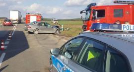 Wypadek na DK61. Dwie osoby w szpitalu