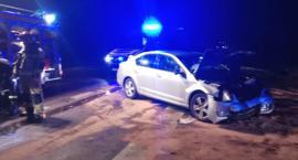 Trzy osoby w szpitalu po wypadku na DK63. Droga zablokowana! [FOTO]