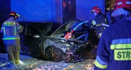 Pożar samochodu na ul. Porucznika Łagody. To było podpalenie? [VIDEO i FOTO]