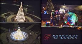 Świąteczna Łomża widziana z drona [VIDEO]