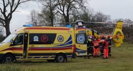 Akcja ratunkowa w Chmielewie. Lądował helikopter LPR [VIDEO i FOTO]