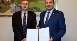 Mariusz Chrzanowski odebrał zaświadczenie o wyborze na prezydenta Łomży