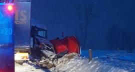 Wypadek na DK61. Dwie ofiary śmiertelne [VIDEO i FOTO]