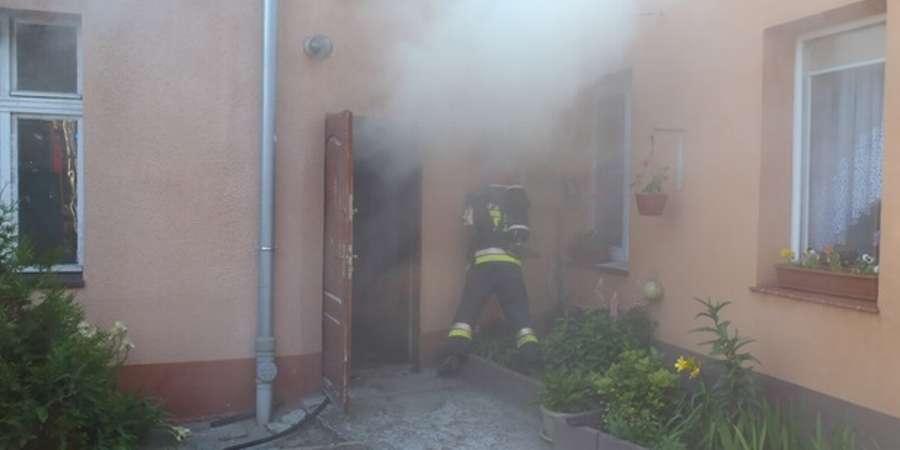 POŻARY, Śmierć pożarze żyje letnia kobieta - zdjęcie, fotografia