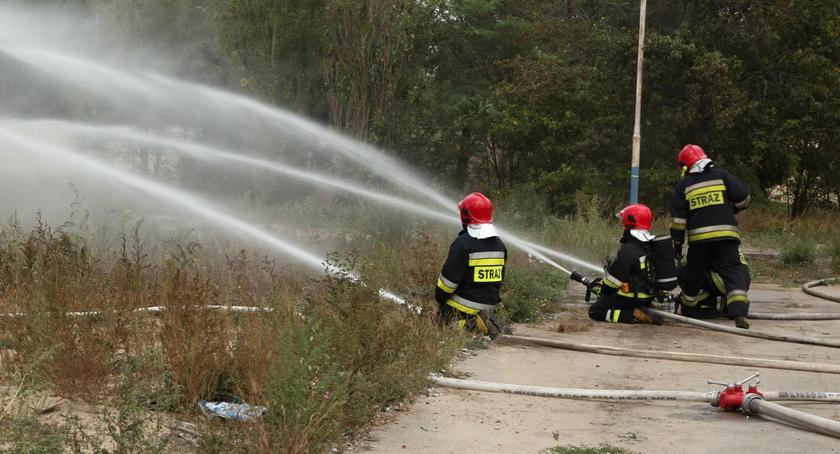 STRAŻ POŻARNA, Pożar hałdy odpadów Strażackie ćwiczenia Altvaterze [ZDJĘCIA] - zdjęcie, fotografia