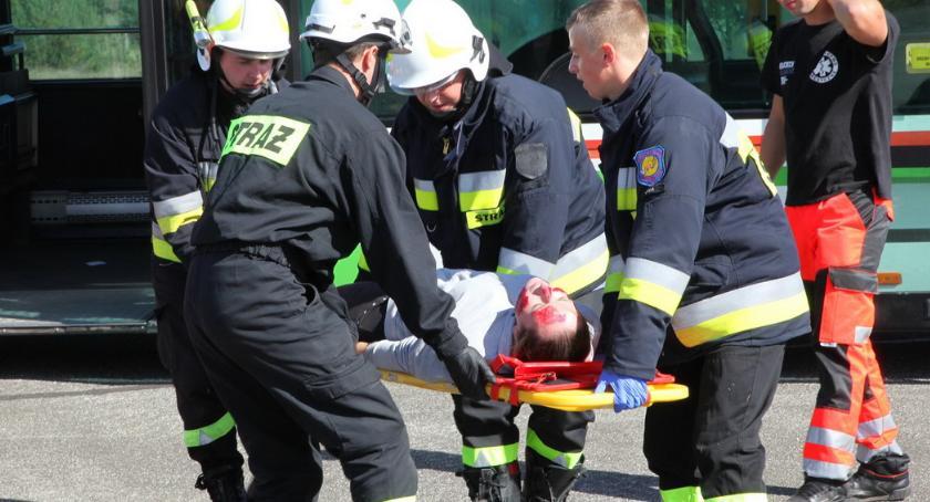 STRAŻ POŻARNA, Strażacy ćwiczyli lotnisku [ZDJĘCIA] - zdjęcie, fotografia