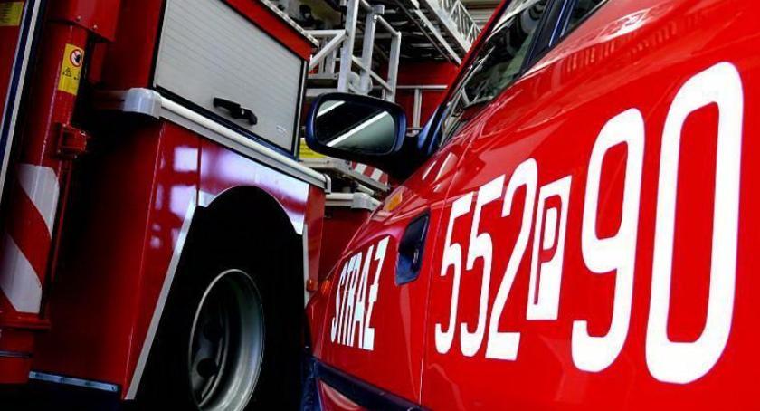 STRAŻ POŻARNA, CZADowy konkurs Powiat strażacy rozdają czujki czadu - zdjęcie, fotografia