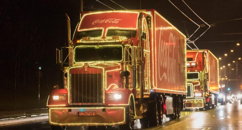PIŁA, Piła trasie świątecznej ciężarówki - zdjęcie, fotografia