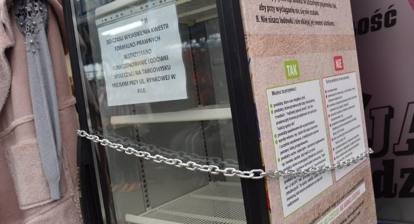 PIŁA, Społeczna lodówka zamknięta klucz Dlaczego - zdjęcie, fotografia