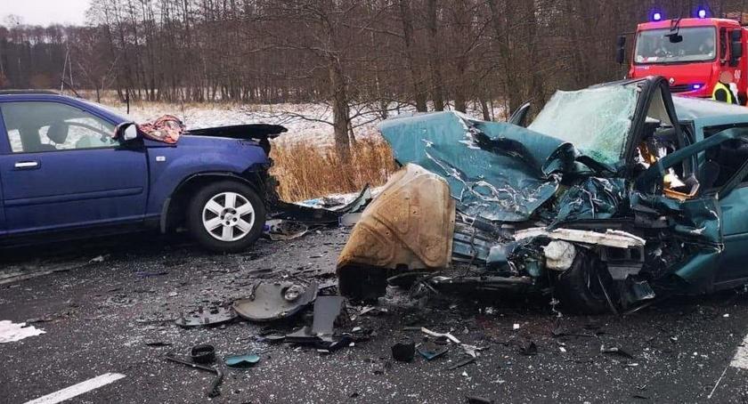 WYPADKI, Wypadek DW178 żyje letni mężczyzna - zdjęcie, fotografia
