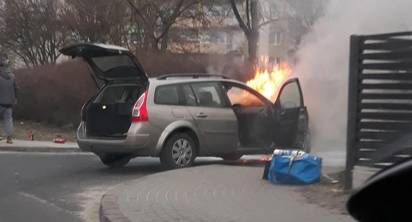 POŻARY, pożary samochodów - zdjęcie, fotografia