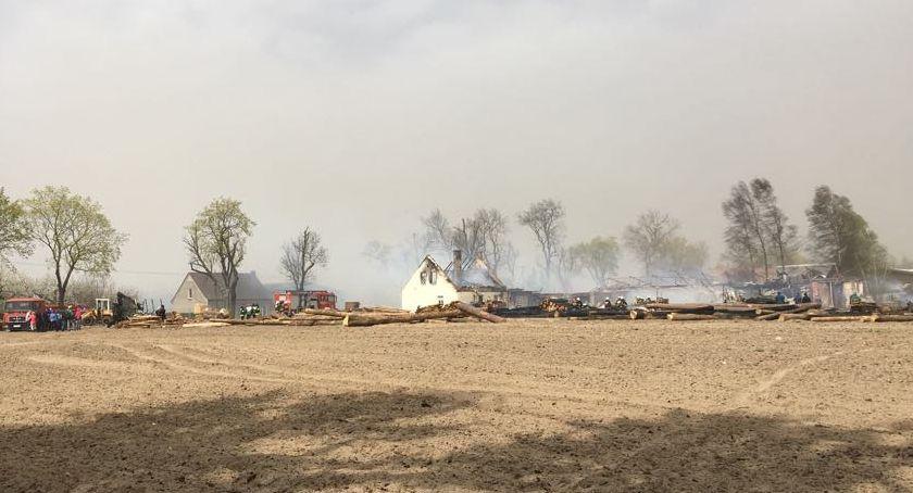 POŻARY, Pożar tartaku Brzostowie [VIDEO] - zdjęcie, fotografia
