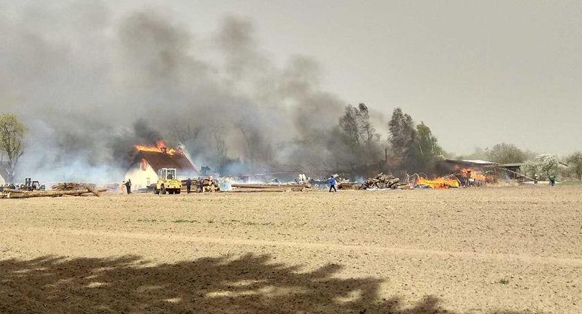 POŻARY, pożarze tartaku Potrzebna pomoc pogorzelców Brzostowa - zdjęcie, fotografia