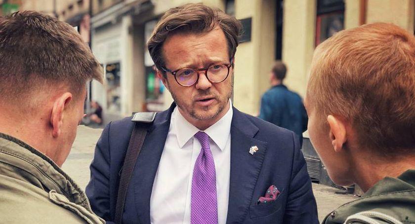 WYBORY DO PE 2019, Kampania przed eurowyborami Michał Wawrykiewicz - zdjęcie, fotografia