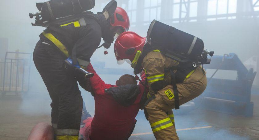 STRAŻ POŻARNA, Strażacy ćwiczyli Exalo [ZDJĘCIA] - zdjęcie, fotografia
