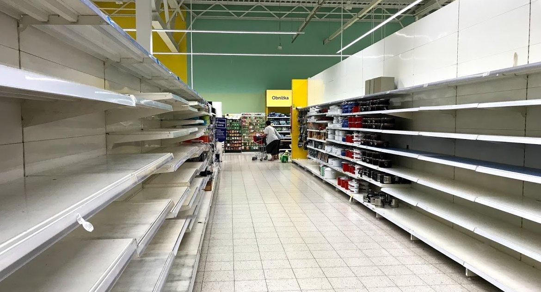 BIZNES I PRACA, Wyprzedaże puste półki dalej Tesco [ZDJĘCIA] - zdjęcie, fotografia