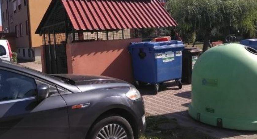 KOMUNIKACJA, blokuj dojazdu altan śmietnikowych PRGOK apeluje kierowców [ZDJĘCIA] - zdjęcie, fotografia