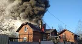 Pożar na ul. Fabrycznej w Pile [ZDJĘCIA]