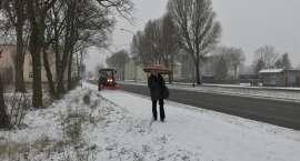 Śnieg w Pile i regionie. Ostrożnie na drogach
