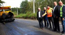 Trwa remont drogi z Leszkowa do Kaliny