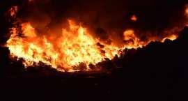 Pożar w Altvaterze. Paliły się śmieci [ZDJĘCIA i VIDEO]
