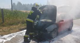 Strażacy gasili płonące auto [ZDJĘCIA]