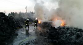 Pożar składowiska opon [ZDJĘCIA]