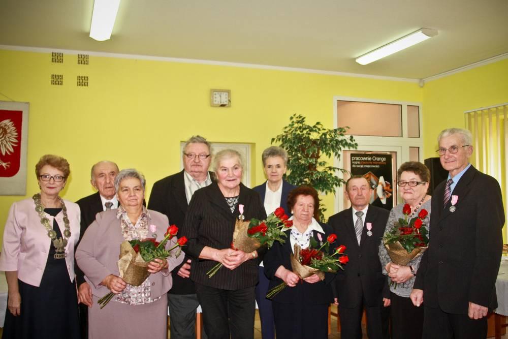 Seniorzy, Jubileusze małżeńskie Gzach - zdjęcie, fotografia