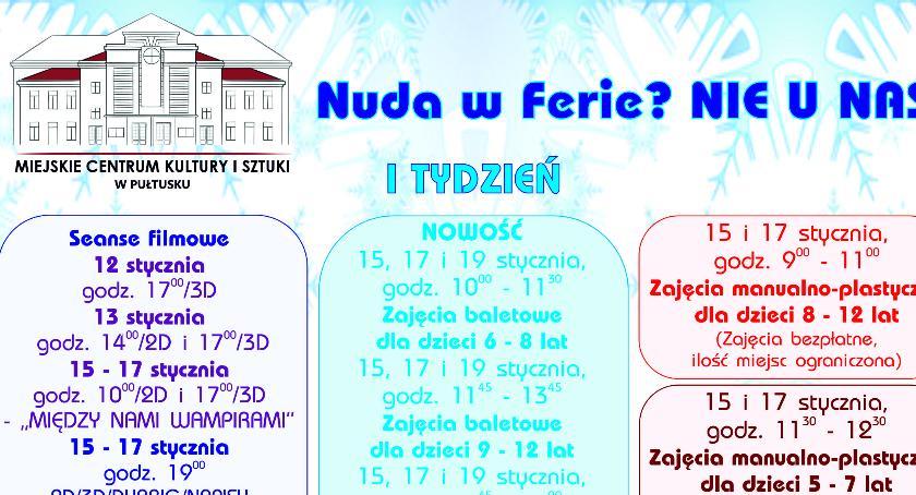 Zaproszenia, Ferie MCKiS - zdjęcie, fotografia