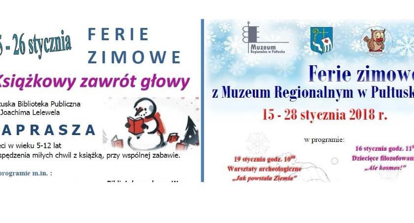 Zaproszenia, Ferie Bibliotece Muzeum - zdjęcie, fotografia