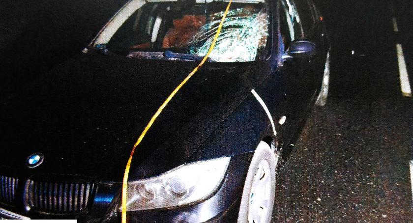 Wypadki drogowe , Potrącenie pieszego Kacicach - zdjęcie, fotografia