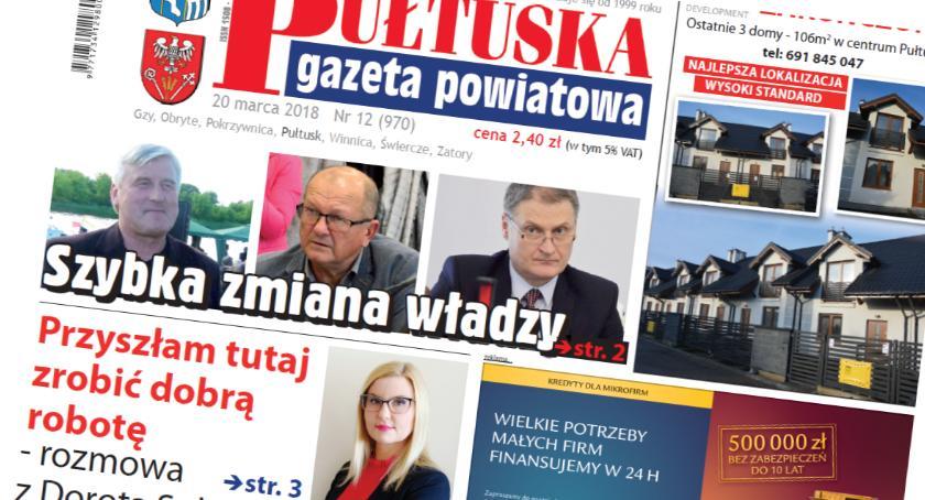 W aktualnym numerze PGP, jutrzejszym wydaniu Pułtuskiej Gazety Powiatowej - zdjęcie, fotografia