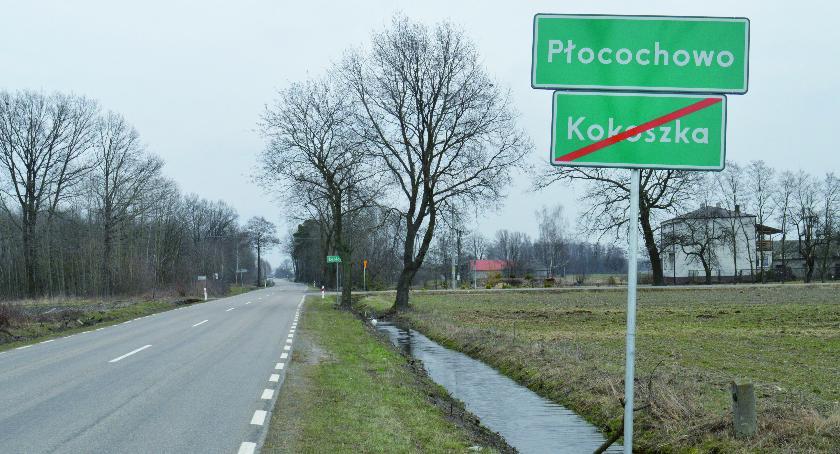 Interwencje PGP, Absurd drogowy trasie Golądkowo Pułtusk wciąż aktualny - zdjęcie, fotografia