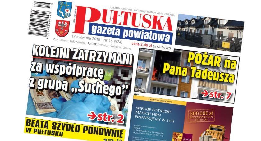 W aktualnym numerze PGP, wtorek numerze Pułtuskiej Gazety Powiatowej - zdjęcie, fotografia