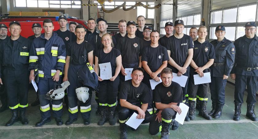 Straż Pożarna, nowych ratowników ochotników - zdjęcie, fotografia