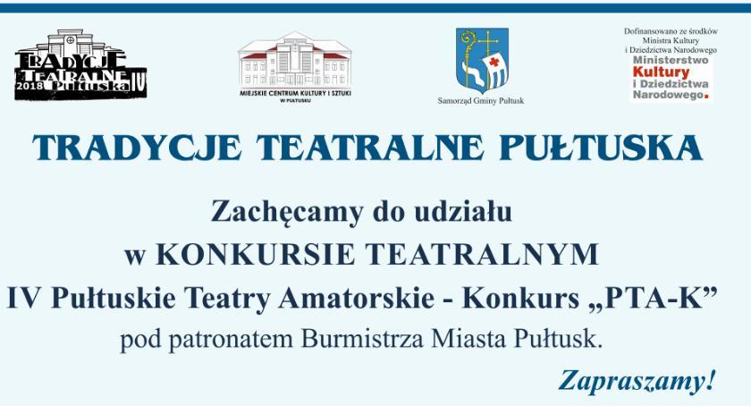 Wydarzenia, Zaproszenie udziału Konkursie Teatralnym - zdjęcie, fotografia