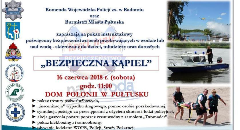 Zaproszenia, Pokaz BEZPIECZNA KĄPIEL jutro - zdjęcie, fotografia