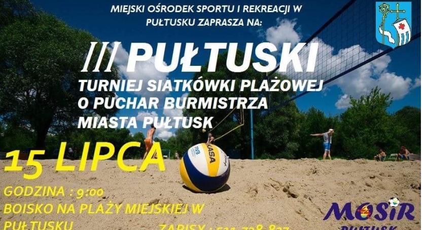 Siatkówka, Zaproszenie udziału turnieju siatkówki plażowej - zdjęcie, fotografia