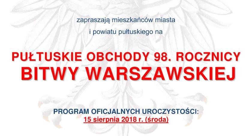 Zaproszenia, rocznica Bitwy Warszawskiej - zdjęcie, fotografia