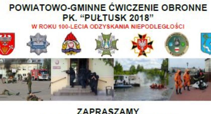 Powiat, PUŁTUSK zaproszenie ćwiczenia obronne piknik militarny - zdjęcie, fotografia