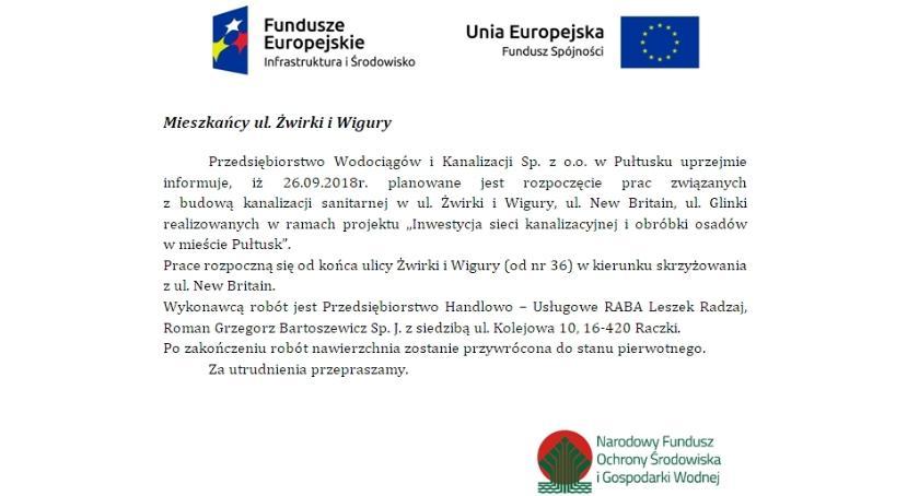 Ogłoszenie, Mieszkańcy Żwirki Wigury - zdjęcie, fotografia