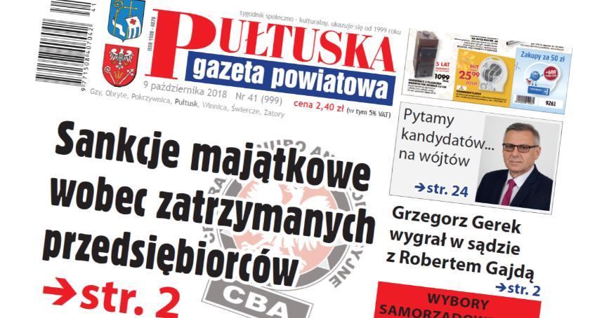 W aktualnym numerze PGP, numerze Pułtuskiej Gazety Powiatowej - zdjęcie, fotografia