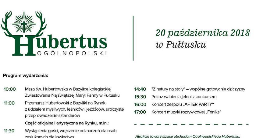 Zaproszenia, Ogólnopolski Hubertus Pułtusku - zdjęcie, fotografia