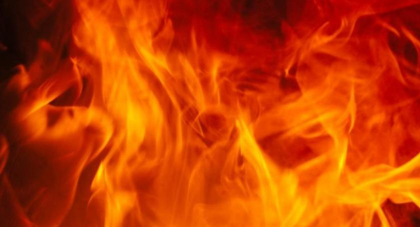 Straż Pożarna, Pożar Niestępowie Włościańskim - zdjęcie, fotografia