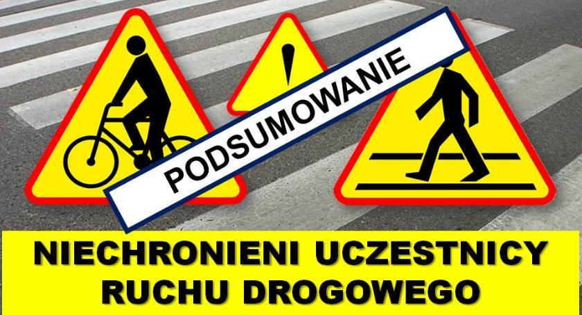 Komunikaty policji, Niechronieni uczestnicy ruchu drogowego podsumowanie - zdjęcie, fotografia