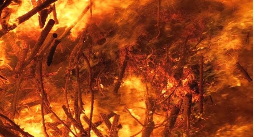 Straż Pożarna, Pożar budynku mieszkalnego - zdjęcie, fotografia